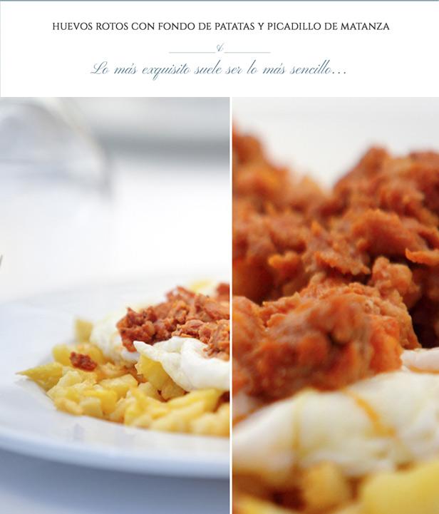 Gastronomía de Segovia - Huevos Rotos - La Portada de Mediodía